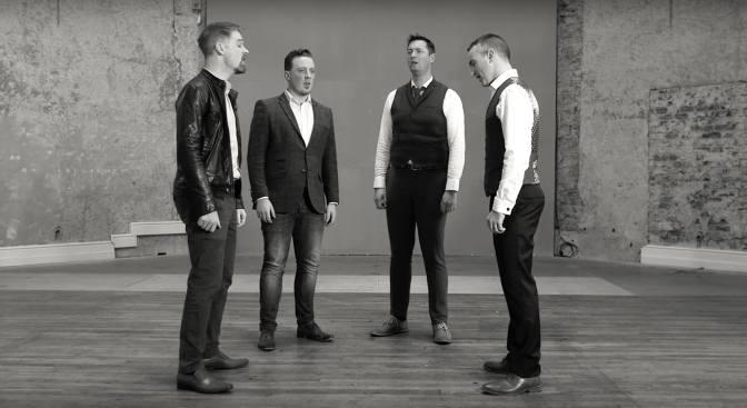 'Hide and Seek' video by Irish barbershop quartet, 4 in a Bar